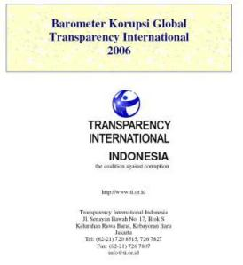 Global Corruption Barometer - Transparency International Indonesia